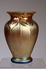Decorated Gold Aurene Vase