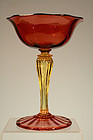 Vineland Flint Glass Co. (Durand) Champagne Glass