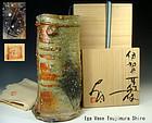 Tsujimura Shiro Iga Mimitsuki Hanaike Vase