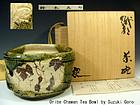 Quality Chadogu,Oribe Chawan Tea Bowl , by Suzuki Goro