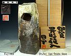 Tall Iga Igyo Tsubo Vase by Fujioka Shuhei