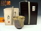 Abe Anjin Contemporary Japanese Bizen Shuki Sake Cup