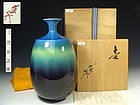Kutani Vase by Living National Treasure Tokuda Yasokichi III