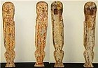 Very Rare Egyptian Pair of Legs From a Funerary Bed!
