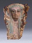 Rare Egyptian Third Intermediate Period Cartonange Mask! 1,000 B.C.!
