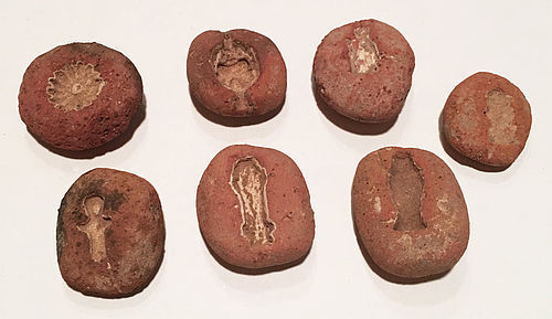 Seven Egyptian Terracotta Amarna Amulet Molds