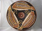 Magnificent Large Greek Pedestal Plate W/Fish Design!