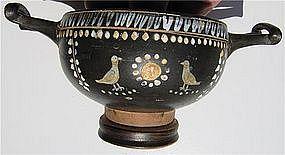Splendid Gnathian Greek Kylix - 4th Century B.C.