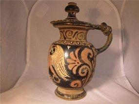 Beautiful Greek Pyxis W/Eros! 4th Century B.C.