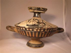 Beautiful Intact Greek Lekanis! 4th Century B.C.
