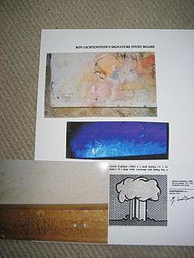 LICHTENSTEIN'S Signature on Abstract Painting