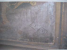 Detail Photo of Monogram on Flemish Painting