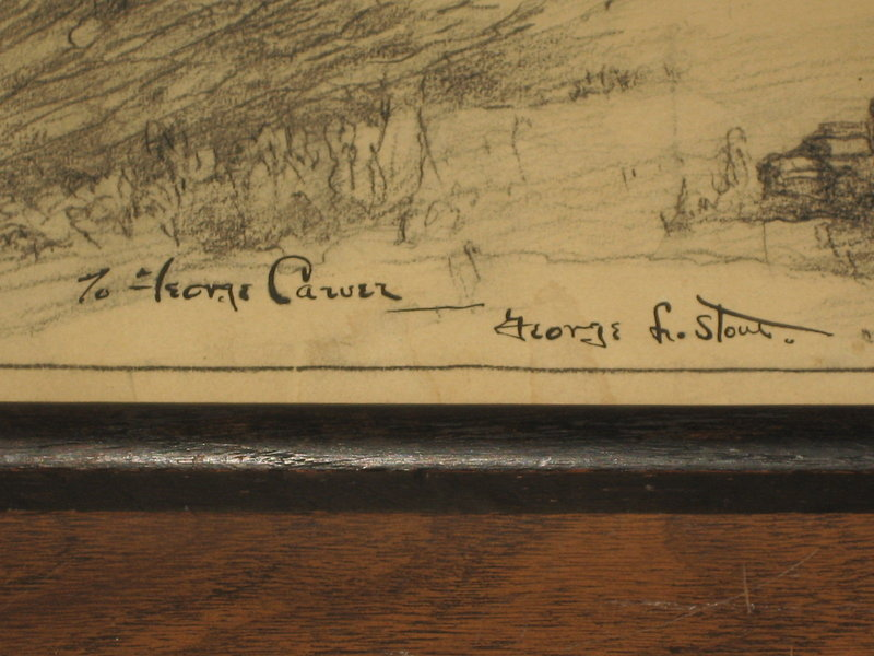 Drawing by George Leslie Stout (1897-1978) Gift to George Carver