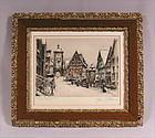 Fine Original Etching by Paul Geissler, German