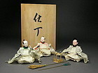 Finely Made Japanese Hina Doll Jichou, 3 Guys
