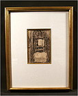 Original Pencil Drawing, Chair by Van Gogh
