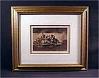 """Etching by Francisco Goya, Plate 28 """"La Tauromaquila"""""""