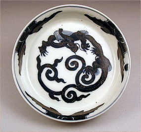 Pretty Japanese Ko Imari Bowl Dragon 19c
