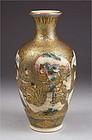 Very Fine Japanese Satsuma Vase, signed Hotoda 19c
