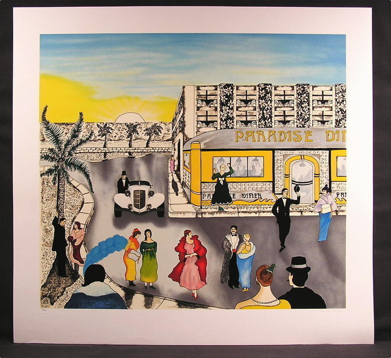 Original Serigraph by Linnea Pergola , Paradise Diner, Limited Edition