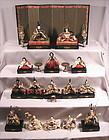 Very Fine Japanese Hina Dolls set with Fine Dougu Set