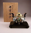 Exquisite Japanese Shippo Koro by Kinunken Inaba, Old Chinese Design