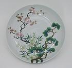 Superb Iroe Work Japanese Porcelain Plate by Seifu Yohei IV