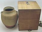 Rare Japanese Earthen Vase by 1st Makuzu Kozan. Namban Style