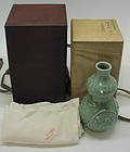 Lovely Japanese Seiji Vase by Seifu Yohei IV
