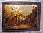 Unique oil painting on gold, signed M. Zayas