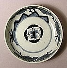 Blue and White Ko Imari Bowl, Kiri design L18c