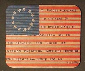 Mouse Pad for Patriot's Gift, America's glory