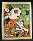 Rare Silkscreen of Dutch Interior 1, Joan Miro