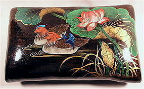 Very Unusual Chinese Lacquered Pillow Ducks