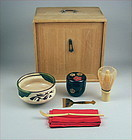 Nice Japanese Tea Ceremony set w/Portable Storing Box