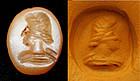 Roman carnelian intaglio seal w. portrait bust