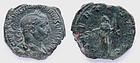 Roman Coin: Trebonianus Gallus sestertius - portrait!