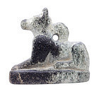 Egyptian, Egypt Anubis black steatite amulet of Jackal