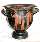 MQ Greek pottery red figure bell krater, c. 450 BC!!