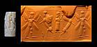 Superb Assyrian agate cylinder  seal, 1200-900 BC