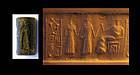Babylonian cylinder seal, 3rd dynasty of Ur w cuneiform