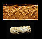 Rare Babylonian cylinder seal, early dynastic period!