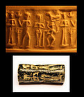 Syrian cylinder seal, 2nd. Syrian group, 2nd. mill. BC