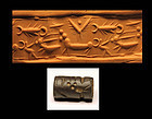 Superb Syrian cylinder seal, exceptional engraving!