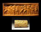 Rare sumerian cylinder seal, 3rd. early dynasty