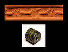 Rare Sumerian cylinder seal Jemdet Nasr animal and fish