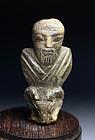 Excessively rare Sumerian bone carving of man!
