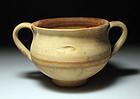 Daunian greek Terra Cotta Pottery Kantharos, c. 400 BC