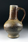 A Frechen salt glazed pottery jug, Mint! c. 1575!