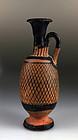 Ancient Greek Apulian Pottery Net Lekythos - 350 B.C.
